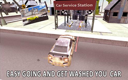 Car Wash Service Station 3D - náhled