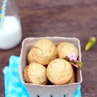 Healthy Olive Oil Banana Nut Mini Muffins.