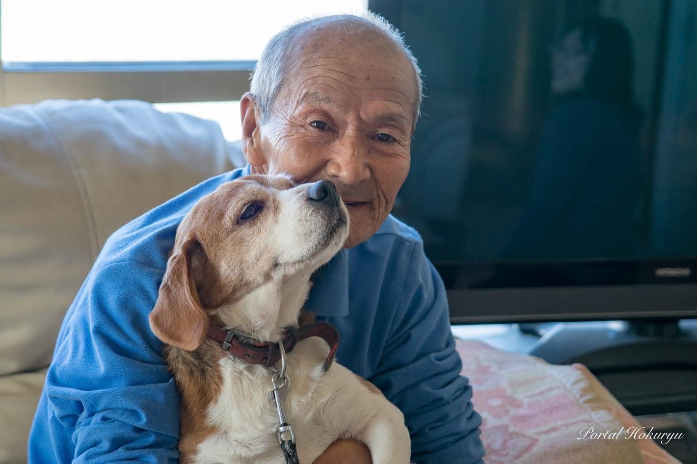 里美おじいちゃん(73)と仲良し