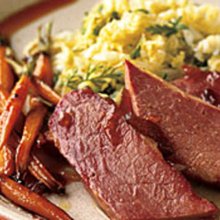 Corned Beef and Carrots with Marmalade-Whiskey Glaze Recipe