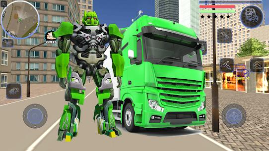 Robot Truck Transformer US Police Robot War Games 4