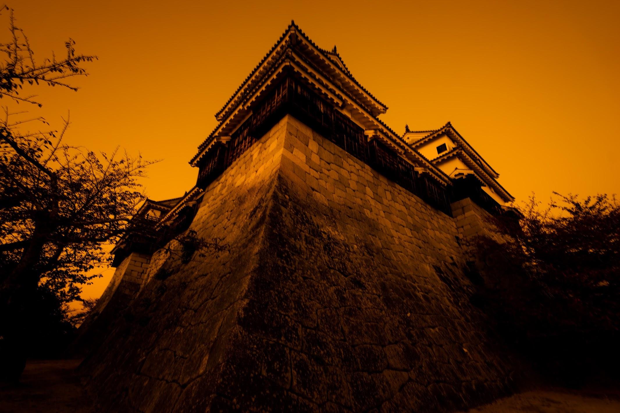 松山城 夕景5