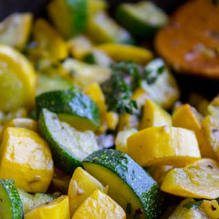 10 Minute Sautéed Zucchini and Squash Side Dish.