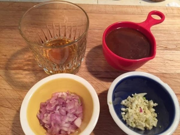 For the Barbeque sauce: Sauté the chopped shallots in a small pan with 2 tablespoons...