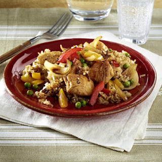 Chicken with Peppers and Rice.