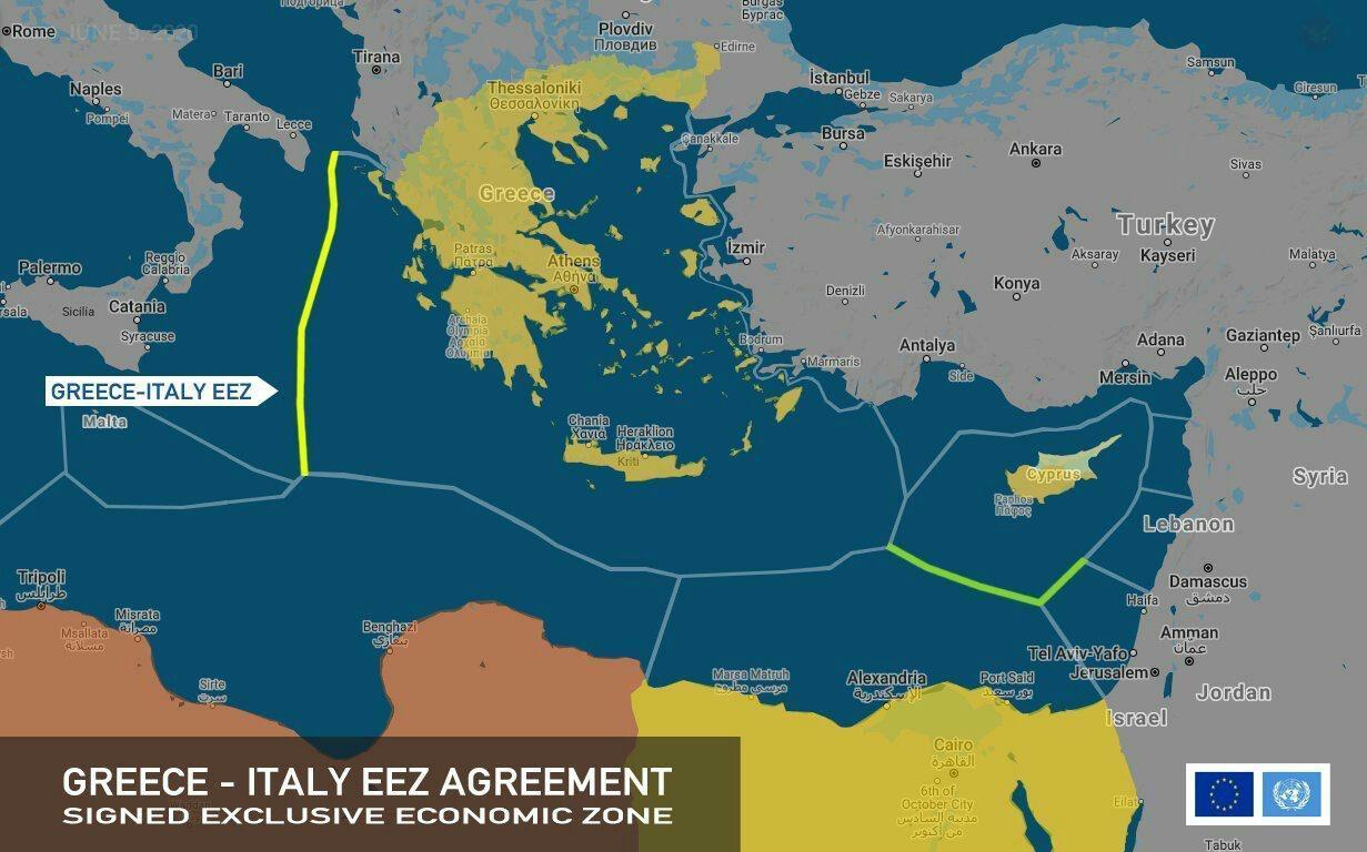 أي مستقبل تنتظره تركيا بعد تعيين الحدود البحرية بين إيطاليا