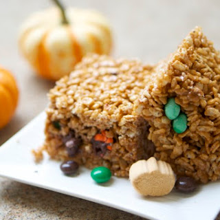 Pumpkin Spice Chocolate Surprise Rice Krispies Treats Recipe