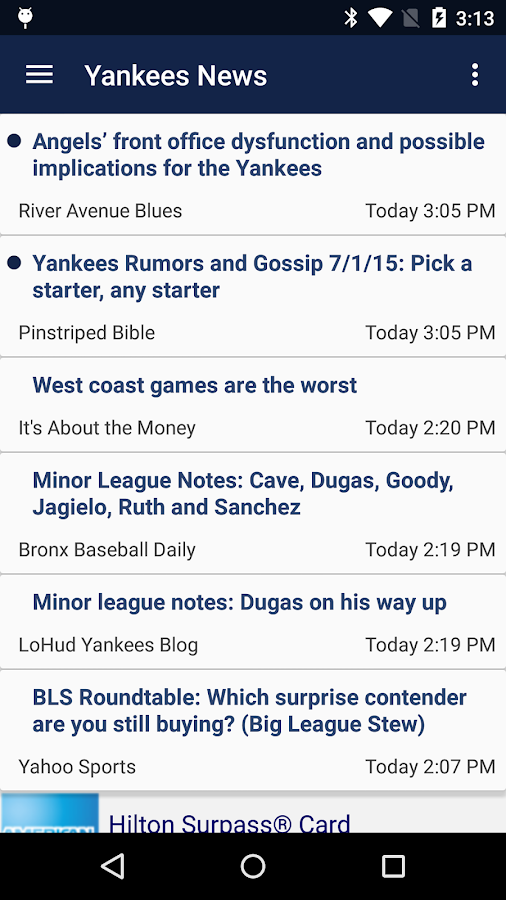 Baseball News - Yankees- screenshot