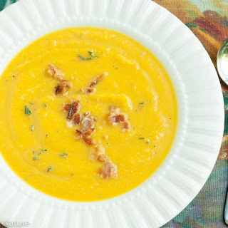 Roasted Butternut Squash Soup with Bacon and Rosemary