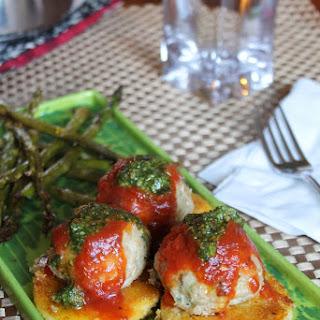 Chicken Parmeatballs & Crispy Polenta