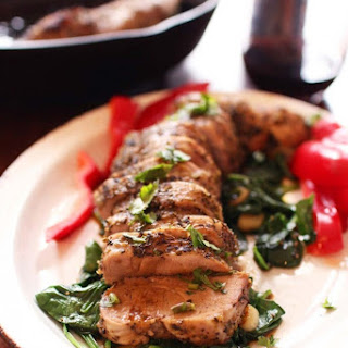 Herb Crusted Pork Tenderloin.