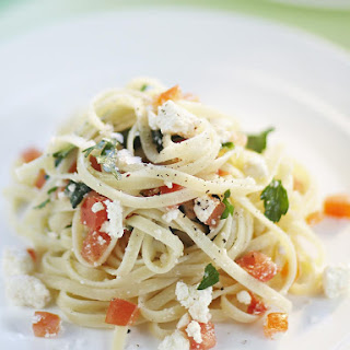 Linguine with Tomato and Ricotta.