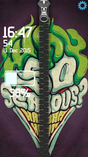 Joker Zipper Lock Screen