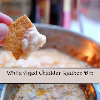 White Aged Cheddar Reuben Dip.