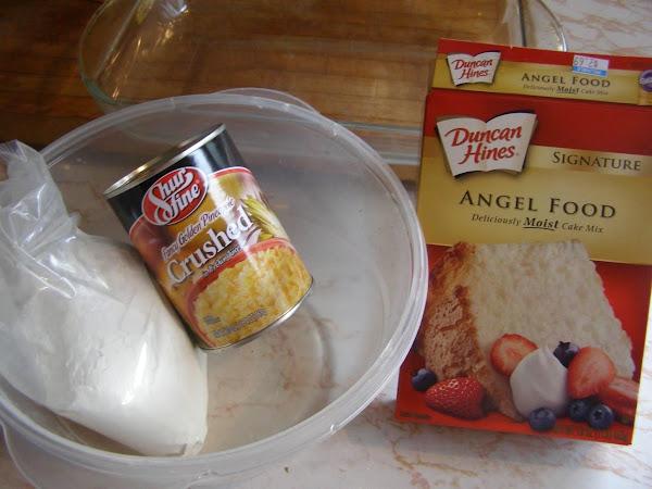 Heavenly Angel Food Pineapple Cake (1-2-3-easy) Recipe