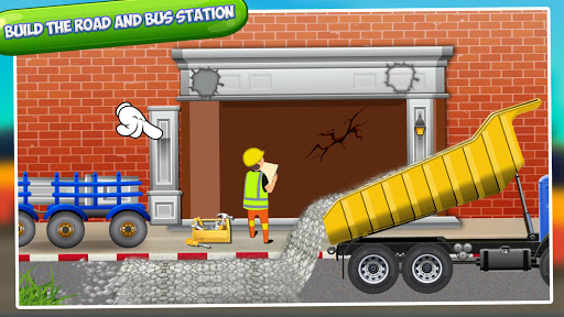 Bus Station Builder: Road Construction Game android2mod screenshots 4