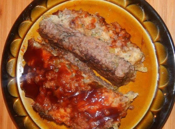 """This is my revised meatloaf recipe. """"MEATLOAF w/a STUFFIN STUFFED CENTER"""" #2. Sept. 2013...."""