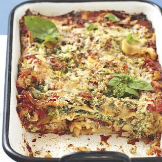 Pesto and Spinach Lasagne
