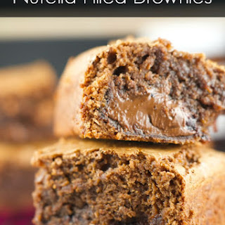 Nutella Stuffed Brownies