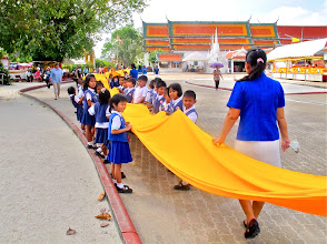 Photo: school children participate in the event