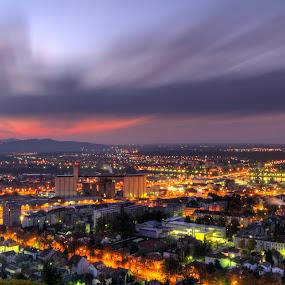 Maribor morning by Peter Zajfrid - City,  Street & Park  Skylines ( sky, slovenia, maribor, long exposure, town, sunrise, morning, city )