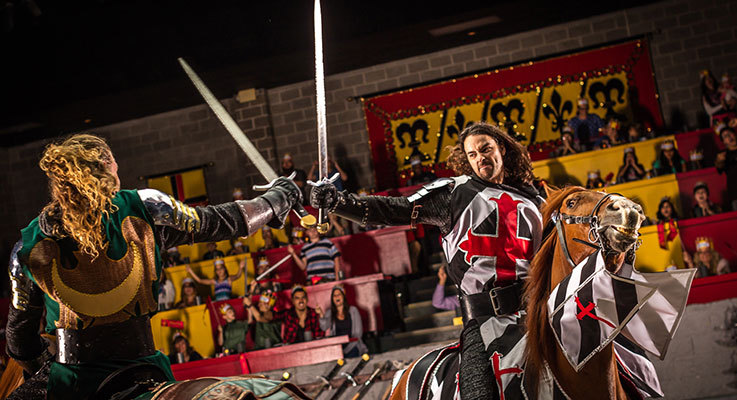 A Queen takes to the throne at the Medieval Times dinner show