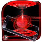 3D Red Energy Reactor Theme Icon