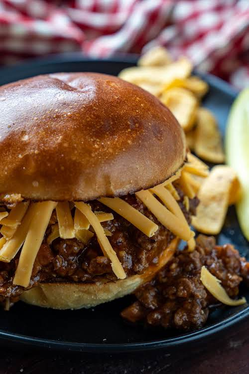 """Sloppy Joe's""""Quick and easy sandwiches filled with a super tasty ground beef..."""
