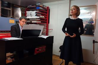 """Photo: BUCHPRÄSENTATION """"DER UNTERGANG DER LIEBE"""" von MEINHARD RÜDENAUER am 13.2.2015. Maria NAZAROVA gestaltete das musikalische Programm. Foto: Peter Skorepa"""