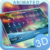 Aurora 3D Theme&Emoji Keyboard