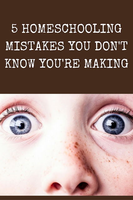 Mistake #3 in our series, 5 Homeschooled Mistakes You Don't Know You're Making