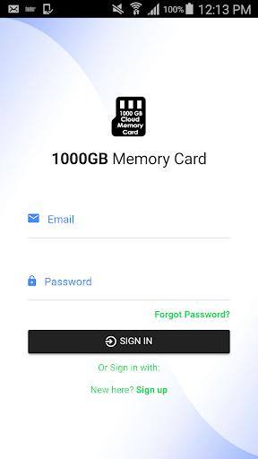 1000 GB Cloud Memory Card 2.0.2 screenshots 1