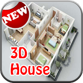 3D Simple House Plan