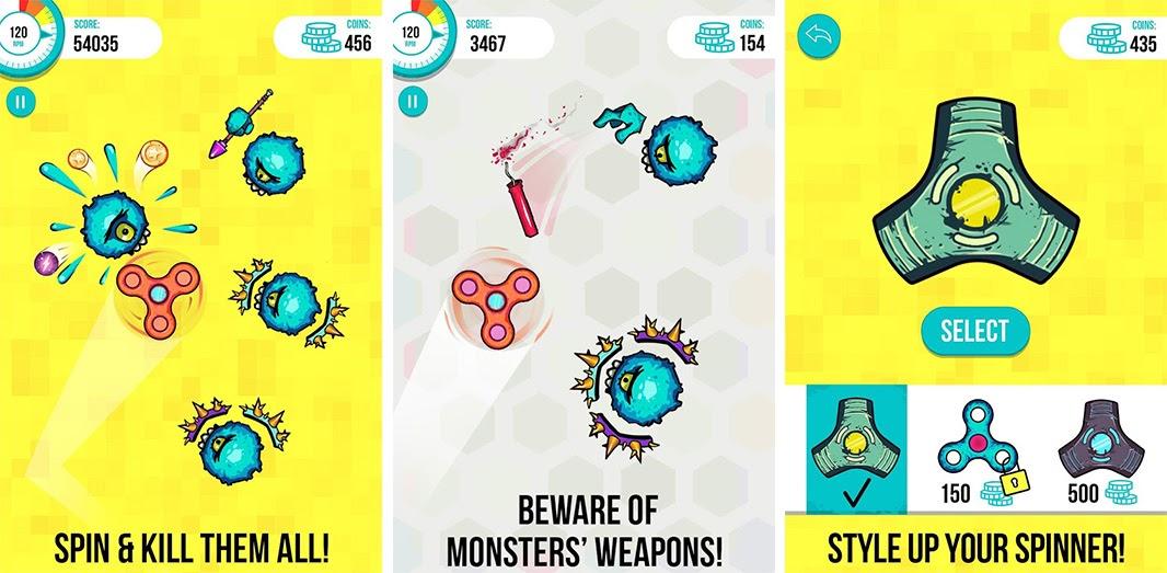 Spinners vs Monsters