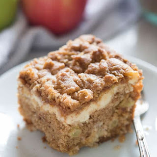 Apple Coffee Cake with cream cheese filling.