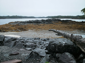 Photo: View from campsite on Roar Islet in Blair Inlet.