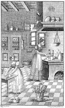 Photo: W kuchni na początku XIX w. - miedzioryt z książki kucharskiej Zelena Ferenc, Narodowa Książka Kucharska (Nemzeti Szakácskönyv), 1830