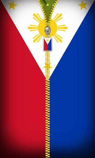Philippines Flag Zipper Locker