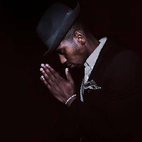 Mr1 by Szymon Stasiak - People Portraits of Men ( #portrait #lowlight #man #dark #blackman #maninblack )
