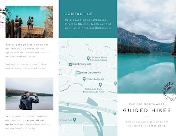 PNW Guided Hikes - Travel Brochure template