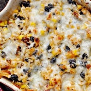 Cheesy Chicken and Rice Bake.