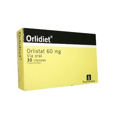 Orlistat Orlidiet 60 Mg X 30 Cápsulas Roemmers 60 mg x 30 Capsulas
