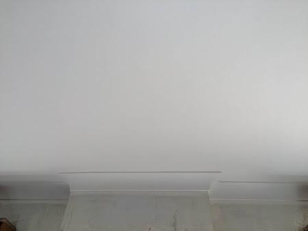 Werf te Lubbeek roetschade - Na : Plafond wit geschilderd in 2 lagen