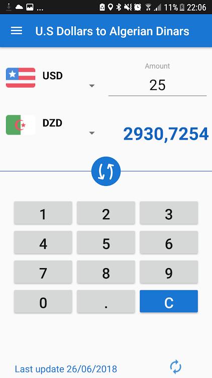 Us Dollar Algerian Dinar Usd To Dzd