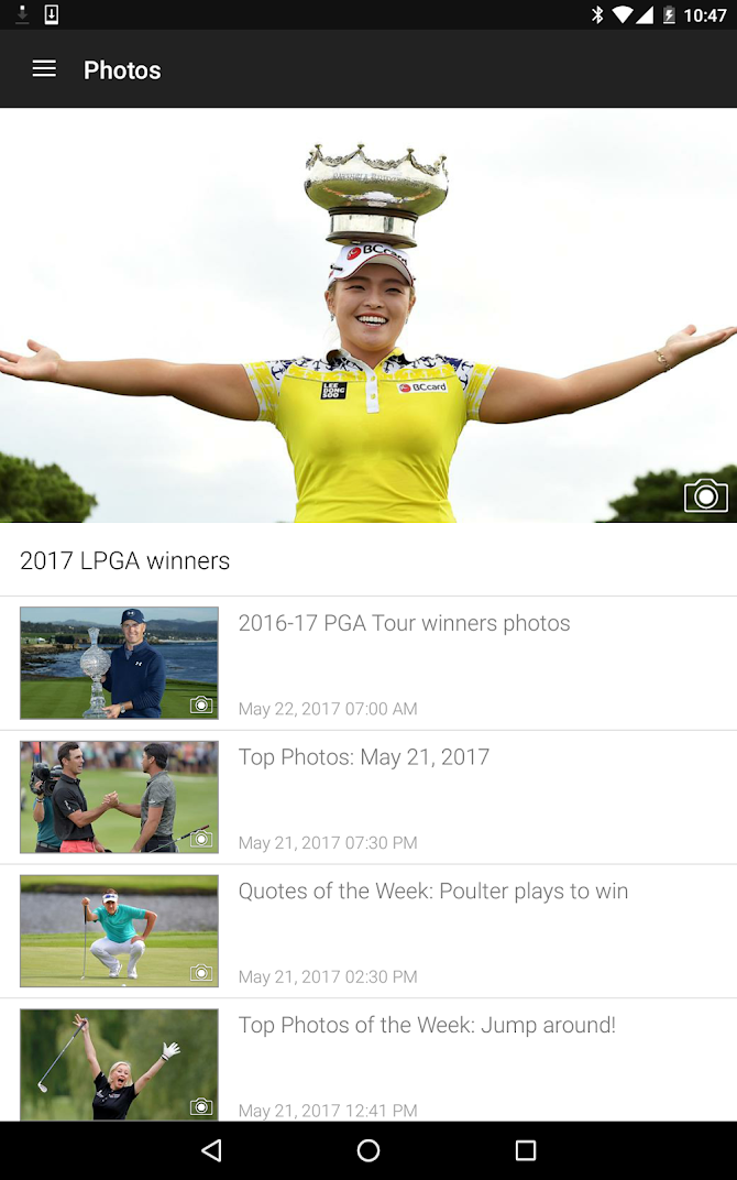 Golf Channel Mobile Android 10