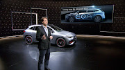 At the world premiere of the new Mercedes-Benz GLA, a glimpse of the EQA was seen in the background.