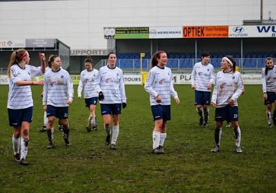 Luna Maes scoorde enig mooi in de Super League voor Heist tegen OH Leuven