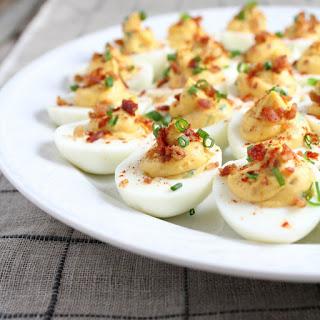 Smoky Deviled Bacon & Eggs