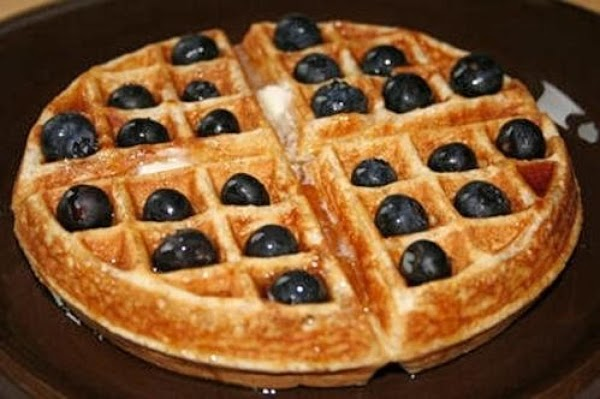 Whole Wheat Waffles With Blueberries Recipe