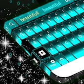 Neon Blue Keyboard